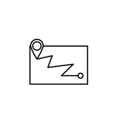 map location navigation outline icon element of vector image