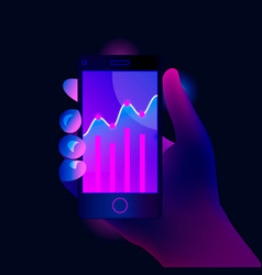 Market trend analysis on smartphone vector