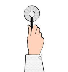 medical stethoscope or phonendoscope in hand of vector image