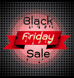 melted black friday sale on dots background vector image