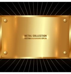 Metallic Golden Plate vector
