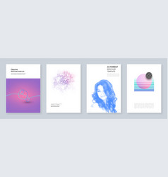 minimal brochure templates with geometric patterns vector image
