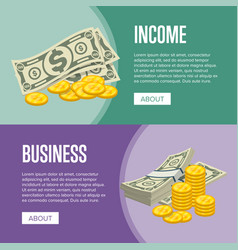 money income and business success flyers vector image