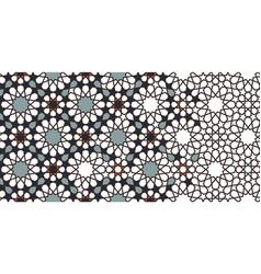Morocco mosaic wallpaperrepeating border vector