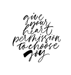 Motivational wisdom freehand calligraphy vector