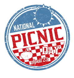 National picnic day sign or stamp vector