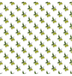 olive branch seamless pattern natural background vector image