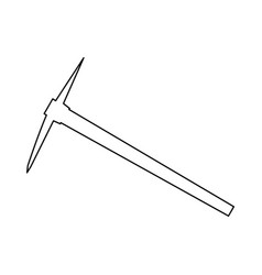 pickaxe black color path icon vector image