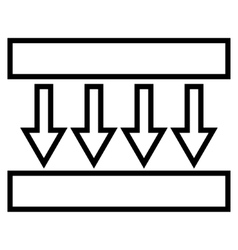 Pressure Vertical Stroke Icon vector
