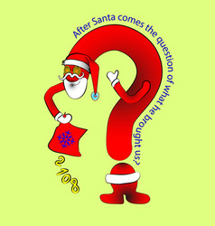 question treset santa s sack gift figures vector image