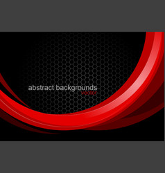 Red curved concepts shape scene vector