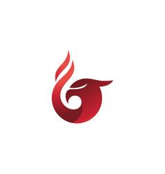red eagle gradient color logo design vector image