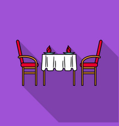 restaurant table icon in flat style isolated on vector image