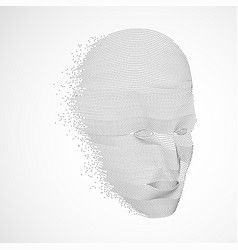 robotic face vector image