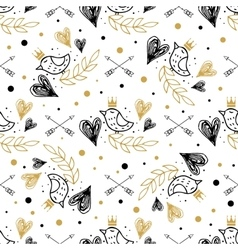 romantic seamless pattern for valentines day vector image