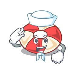 Sailor swim tube character cartoon vector
