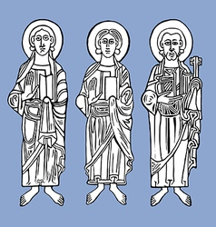 Saints vector image