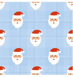 seamless new years pattern with santa vector image
