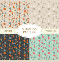 Set of four abstract seamless patterns vector