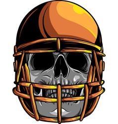skull football design art vector image