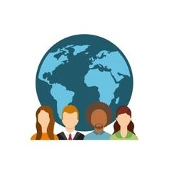 social media community icon vector image