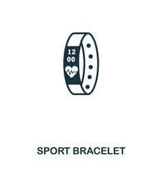 Sport bracelet icon mobile app printing web vector