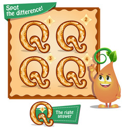 Spot the difference letters q vector