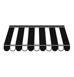 Store tent icon simple style vector