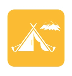 tent mountains icon vector image