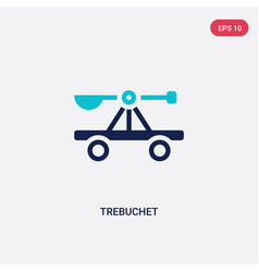 Two color trebuchet icon from cultures concept vector