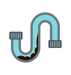 Water pipe icon flat style vector