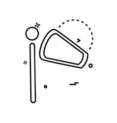 Wind tester icon design vector