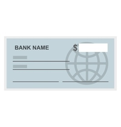 bank check isolated icon design vector image