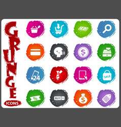 e-commerce icons set in grunge style vector image