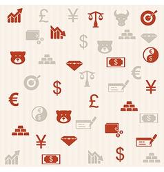 Finance seamless pattern 2 vector image