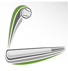 flying baseball ball vector image vector image