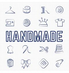 handmade hobby linear icons set vector image vector image
