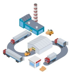 Manufacture Logistic Infographic vector image vector image