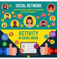 Social Networking Services Horizontal Banners vector image
