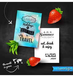 Summer holidays poster with blurry effect on a vector image vector image