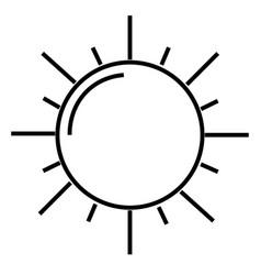 the sun icon vector image vector image