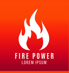 white flame of fire logo design on bright vector image vector image