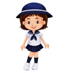 young kid in school uniform vector image