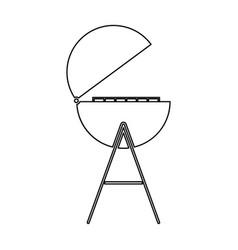 Barbecue or grill black color path icon vector