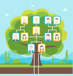 cartoon family tree vector image