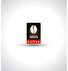 Conceptual Coffee Text with stylized Icon to use vector image vector image