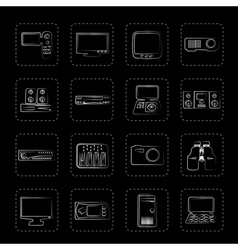 Hi-tech equipment icons vector image