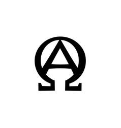 monogram of biblical phrase - i am alpha and omega vector image