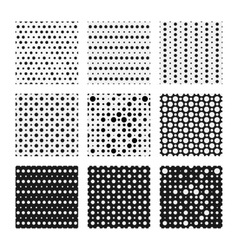 Seamless dots patterns set backgrounds vector image vector image