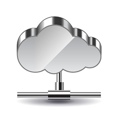 Cloud computing isolated on white vector image